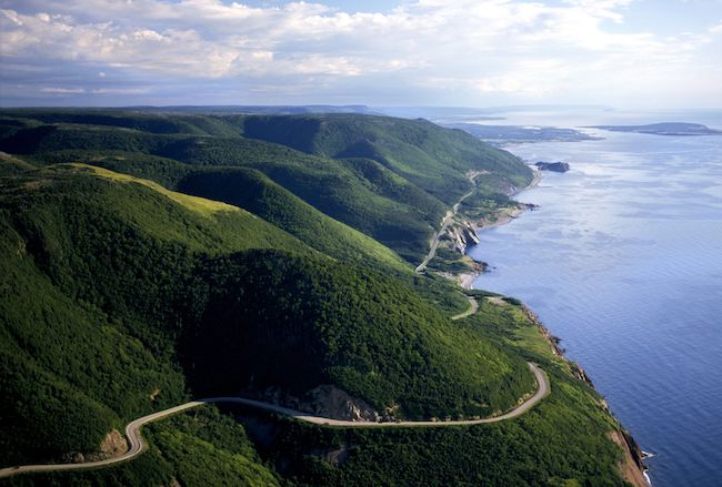 Cabot Trail in Nova Scotia